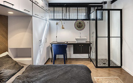 Căn hộ 36m² với những bức tường tủ lưu trữ cực tiện ích xung quanh