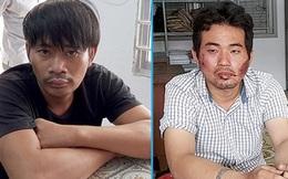 Hai tên cướp giật điện thoại trên đường bị người dân vây bắt