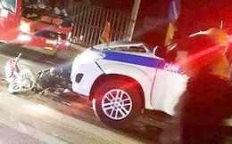 Nam thanh niên tụ tập uống rượu rồi lao xe vào ô tô CSGT