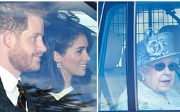 """Meghan Markle chính thức """"chạm mặt"""" Nữ hoàng Anh sau lùm xùm có thái độ vô lễ, nét mặt khác thường của cả hai thu hút sự chú ý"""