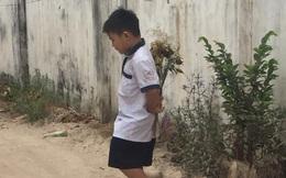 Cậu bé cấp 1 bẽn lẽn cầm bó hoa đứng bên bờ tường, biết câu chuyện ai nấy ôm bụng cười vì đáng yêu quá sức tưởng tượng