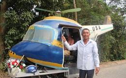 Tự chế trực thăng chạy trên đường làng từ xe máy cũ