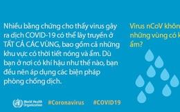 """WHO giải đáp 9 tin đồn """"hoang đường"""" về dịch COVID-19: Tất cả chúng ta đều cần nắm rõ để phòng dịch cho đúng"""