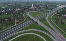 Rào chắn đường vành đai 3 trên cao để thi công nút giao với cao tốc Hà Nội- Hải Phòng