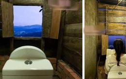 """Cô gái khoe chiếc toilet nhà làm có view siêu lãng mạn, khẳng định luôn ngồi vào là giải quyết hết mọi """"nỗi buồn"""" không chút lo toan"""