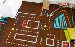 Chỉ với cuộn băng dính, con sẽ chơi quên giờ giấc với những trò cực kỳ dễ dưới đây