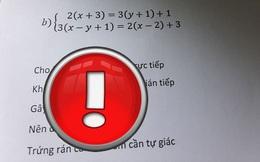 """Ra bài kiểm tra mùa """"trứng rán cần mỡ"""", giáo viên không quên thả thêm vài dòng cảnh báo khiến học sinh cười trong mặn chát"""
