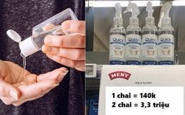 Tăng giá 24 lần cho chai nước rửa tay thứ 2, siêu thị Đan Mạch khiến những kẻ đầu cơ trục lợi bó tay!