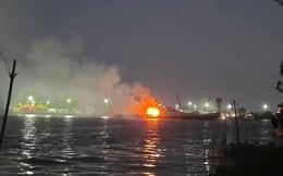 Tàu chở xăng phát nổ, 2 người tử vong, 1 người mất tích trên sông Đồng Nai