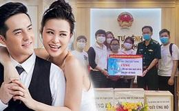 Vợ chồng Đông Nhi - Ông Cao Thắng và fanclub khủng trao tặng 35.000 khẩu trang, loạt vật dụng y tế phòng dịch Covid-19
