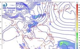 Hai đợt không khí lạnh liên tiếp tràn xuống miền Bắc những ngày cuối tháng 3