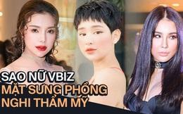 """Mỹ nhân Vbiz khiến netizen hoảng hốt vì mặt sưng phồng: Diệp Lâm Anh thành bản sao Park Bom, Hiền Hồ bị nghi """"dao kéo"""""""