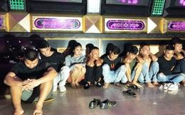 """10 thanh niên nam, nữ tổ chức """"đại tiệc"""" sinh nhật bằng ma túy trong quán karaoke"""