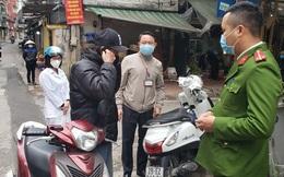 Xử phạt 218 trường hợp cá nhân ra đường không đeo khẩu trang