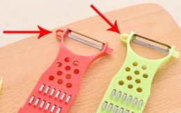 Suốt bao nhiêu năm, giờ tôi mới biết công dụng của chiếc lỗ nhỏ ở cạnh của dao nạo rau củ!