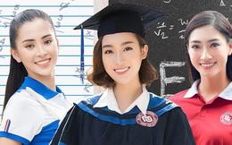 """""""Soi"""" bảng điểm Hoa hậu Việt thời đi học: Người đỗ Ngoại Thương, người gây xôn xao vì """"lẹt đẹt"""", choáng nhất là Lương Thuỳ Linh"""