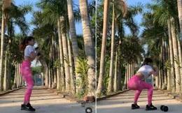 Miệt mài tập tành giữ body lại bị cà khịa ở dơ, bạn gái Lâm Tây đáp gọn lỏn: Vườn nhà 3 mẫu nên không quét nổi