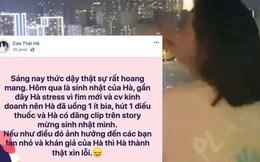 Gây tranh cãi nảy lửa vì khoe ảnh phì phèo thuốc lá, Cao Thái Hà chính thức công khai lên tiếng
