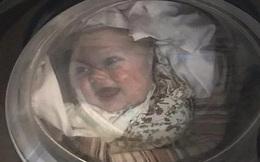 """Ông bố """"thót tim"""" khi thấy con đang nằm gọn trong máy giặt, biết được sự thật, cư dân mạng không ngừng cười """"ha ha"""""""