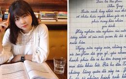 Nghỉ dịch quá lâu, nữ sinh cover hit triệu view khoe chữ viết tay đỉnh như đánh máy khiến dân mạng trầm trồ chào thua