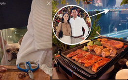 Vừa chia tay, Phillip Nguyễn đã khoe ảnh ăn tối cuối tuần với một cô gái, bóng phản chiếu trong kính trông quen quen?