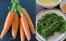 """Chồng vào bếp chưa bao giờ hết bi hài, vợ dặn luộc cà rốt lại làm món rau """"quen mà lạ"""" ai nhìn cũng ngẩn tò te"""
