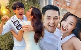 """4 lần Đông Nhi """"gây nổ"""" toàn MXH: Kỷ niệm 10 năm yêu, hôn lễ cổ tích đến ngày lên thiên chức, lần nào cũng tạo trend!"""