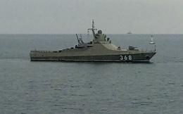 """Tàu tuần tra mang vũ khí """"cắt đôi tàu đối thủ"""" của Nga khoe sức mạnh trong tập trận"""