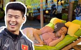 """Bị vợ chê chụp ảnh xấu, Duy Mạnh """"chơi lầy"""" lén dìm hàng Quỳnh Anh rồi nhắn nhủ: """"Đừng bao giờ ngủ khi chồng còn thức"""""""