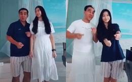 """Lọ Lem con gái Quyền Linh làm clip hoán đổi trang phục với bố nhưng dân mạng chỉ chăm chăm nhìn vào chiều cao """"khủng"""" của cô bé 15 tuổi"""