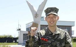 Son Heung Min hoàn thành xuất sắc khóa học quân sự