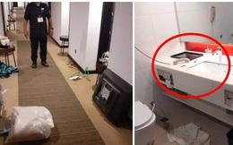 Được cách ly 14 ngày trong khách sạn tiện nghi, người đàn ông không chịu ở yên một chỗ còn gây ra cảnh tượng gây phẫn nộ trong phòng