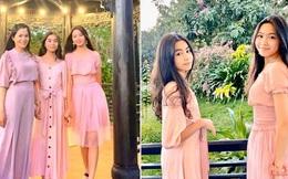 2 công chúa nhỏ nhà Quyền Linh thướt tha khoe dáng bên mẹ, cả 2 đều sở hữu đôi chân dài miên man khiến ai cũng trầm trồ