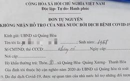 Thanh Hóa yêu cầu tuyệt đối không được vận động người dân từ chối nhận hỗ trợ khó khăn do Covid-19