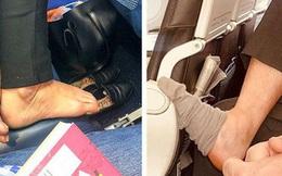 Đi máy bay tuyệt đối không được cởi giày dép cho thoáng chân và đây là 4 lý do