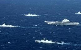 """Tiết lộ nhóm tàu sân bay TQ """"diễu võ giương oai"""" trước mắt chiến hạm Mỹ ở Biển Đông"""
