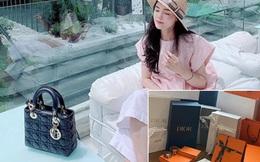 Vừa tiết lộ doanh thu 1 tháng gần 2 tỷ, bà bầu 9X Quỳnh Anh - vợ cầu thủ Duy Mạnh đã mạnh tay sắm cả núi đồ hiệu