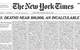Báo Mỹ đau đớn dành cả trang nhất đăng kín tên 1.000 người chết vì COVID-19
