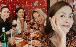 Hội bạn thân 10 năm showbiz tụ họp: Nhan sắc hậu tăng cân của Hà Tăng chiếm spotlight, càng nhìn càng hút hồn