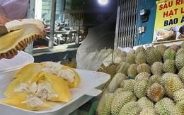 """Sầu riêng """"bao ăn"""" chất đống khắp vỉa hè Sài Gòn với giá siêu rẻ chỉ 50.000 đồng/kg: """"Gặp hạn mặn nên bán được đồng nào hay đồng đó!"""""""