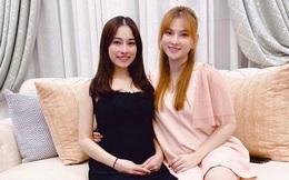 """Vừa thông báo gia nhập """"hội bà bầu của Vbiz"""", Thu Thủy cùng bà xã Dương Khắc Linh đã tranh thủ đọ nhan sắc khi đứng chung khung hình"""