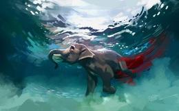 Vụ voi mẹ mang thai chết tức tưởi vì ăn phải dứa nhồi pháo nổ: Những bức tranh tưởng niệm chứa đựng nỗi đau khiến thế giới phải suy ngẫm