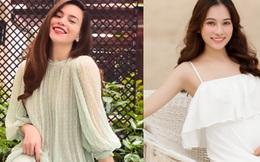 """Đọ sắc 4 bà bầu đang mang song thai của showbiz Việt: Người xinh đẹp xuất sắc, người """"phát tướng"""" đi mua váy không cái nào vừa"""