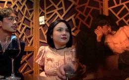 """Độc Quyền: 5 lần 7 lượt Thái Trinh bị """"tóm gọn"""" khi tình tứ cùng trai lạ trên bar, lần này là hôn hít một anh chàng mới toanh?"""
