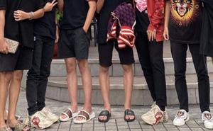 Nhóm 'dân chơi' 2k5 khoe ảnh mặc toàn hàng hiệu, dân mạng bán tín bán nghi: Có khi nào diện đồ fake?
