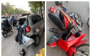Clip: Ô tô lao với tốc độ kinh hoàng, đâm loạt phương tiện trên đường khiến mọi người kinh sợ