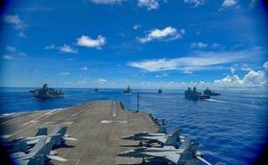Nhóm tác chiến tàu sân bay Mỹ lần thứ 3 diễn tập ở Biển Đông