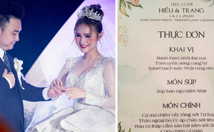 Lộ diện thực đơn đám cưới Xemesis - Xoài Non: món nào cũng sang, đọc tên loá cả mắt!