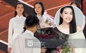 HOT: Văn Hậu tặng hoa hồng đỏ và ôm an ủi Doãn Hải My ngay trên sân khấu Hoa hậu