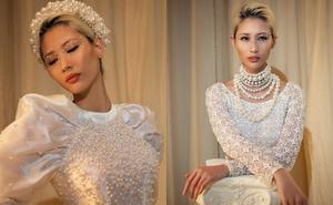 Người mẫu Hằng Nguyễn cuốn hút với áo dài thiết kế độc đáo